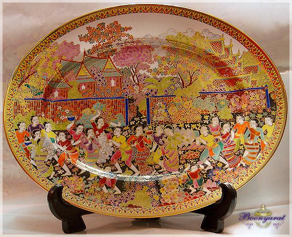 Benjarong Oval Plate