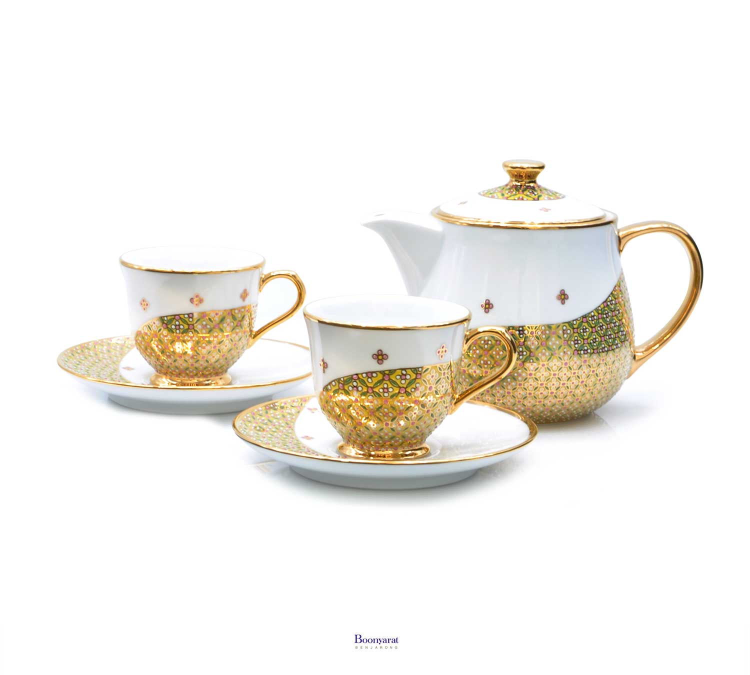 Benjarong mini coffee set souvenir