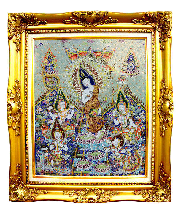 Benjarong Buddha picture 20 x 16 inch