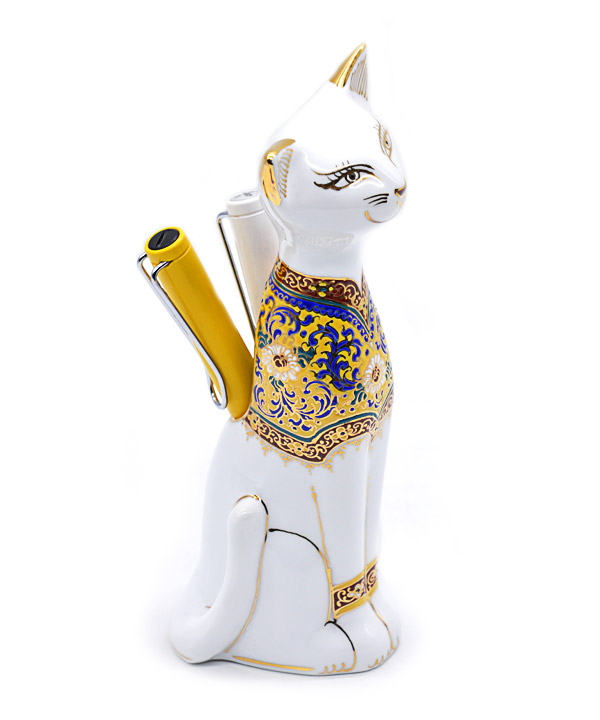 Cat benjarong for pen holder