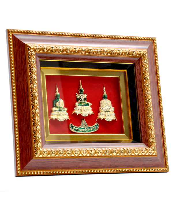 FRME WITH 3 SEASON EMERALD BUDDHA Medium size