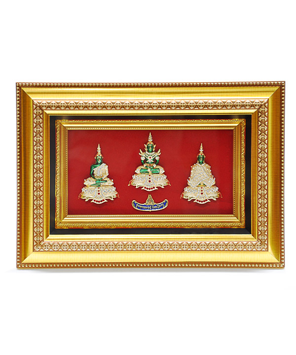 Frme with 3 season Emerald Buddha big size