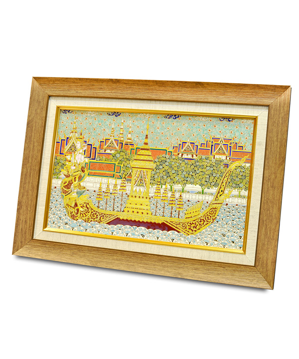 Narai Song Suban Boat hand-painted on tile
